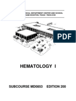 US Army Medical Course MD0853-200 - Hematology I