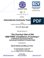 Flyer FIDICcontracts ViennaMarch2009