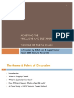 Inclusive & Sustainable Growth - Role of Supply Chain - Final