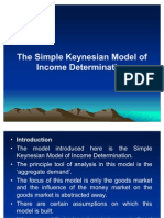 Simple Keynesian Model of Income Determination