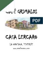 Carta Menu Grimaldi