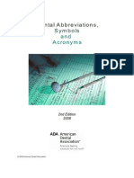 Dental Practice Abbreviations