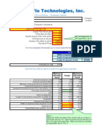 API Sizing Calculations WebSite