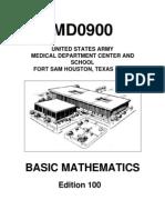 US Army Medical Course MD0900-100 - Basic Mathematics