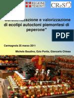 Caratterizzazione e valorizzazione di ecotipi autoctoni piemontesi di peperone