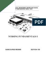US Army Medical Course MD0905-100 - Nursing Fundamentals I