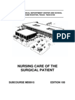 US Army Medical Course MD0915-100 - Nursing Care of the Surgical Patient
