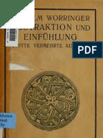 Worringer, Wilhelm_Abstraktion und Einfühlung_1911