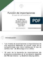 Función de Importaciones; El caso de Latinoamérica (2009) - (Beamer)