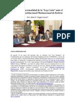 """La Inconstitucionalidad de la """"Ley Corta"""" (TIPNIS) ante el Tribunal Constitucional Plurinacional"""