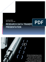 Research Data Transfer and Presentation