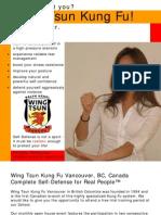 Wing Tsun Kung Fu Brochure