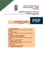 LAMPEA-Doc 2012 – numéro 3 / Vendredi 20 janvier 2012