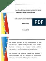 to Critico Para La Educacion a en El Contexto de La Revolucion Bolivar Ian A