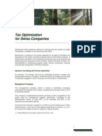 Tax Optimization for Swiss Companies