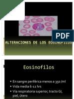 Alteraciones de Los Eosinofilos