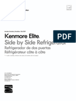 Kenmore Elite Side by Side Refrigerator 106.5118 (English Manual)