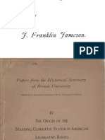 The Origin of the Standing-Committee System in American Legislative Bodies, by J. Franklin Jameson