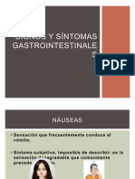 Signos y síntomas gastrointestinales