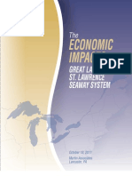 Economic impacts of Great Lakes-St. Lawrence Seaway System - full report