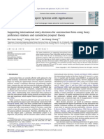 Supporting International Entry Decisions for Construction Firms Using Fuzzy Preference Relations and Cumulative Prospect Theory