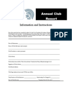 Annual Club Report