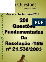 QUESTOES RES TSE 21538