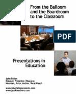 Presentation in Education