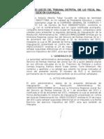 SEÑORES JUECES DEL TRIBUNAL DISTRITAL DE LO FISCAL No