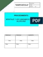 Procedimiento Uso Andamios Layher Alrround - Formato