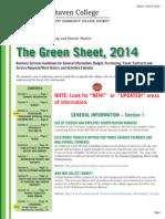 Brookhaven College Green Sheet 2014