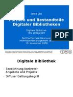 Formen und Bestandteile Digitaler Bibliotheken
