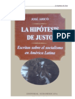 José Aricó - La Hipótesis de Justo. Estudios sobre el socialismo en América Latina