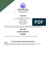 City Council Agenda January 24, 2012