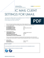 Generic U-Mail Settings