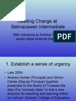 Leading Change at Balmac