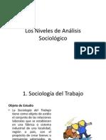 Los Niveles de Análisis Sociológico