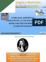 Aspectos Legais e Sanitários do Uso de medicamentos