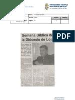 Informe de prensa del 13 al 20 de enero de 2012