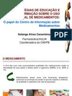 Estratégias de educação e informação sobre URM - SOLANGE