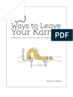 50 Ways to leave your karma