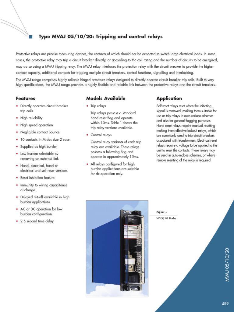 mvaj 05 trip relay relay capacitor rh scribd com 5 Pole Relay Wiring Diagram 5 Pin Relay Wiring Diagram