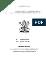 English Research Proposal Final