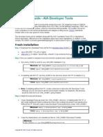 Developer Tools Installation Guide
