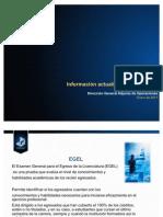 Información actualizada de los EGEL 2012