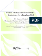 Islamic Finance Education in India – Strategizing for a Paradigm Shift