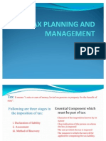 Tax Planning and Management