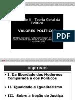 Espm 2008 2 Ri Teoria Politicas Unidade II (Cap.5) Valores Politicos Versao Aluno