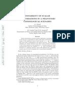 J.C. Fabris, D.F. Jardim and S.V.B. Goncalves- Instability of Scalar Perturbations in a Phantomic Cosmological Scenario