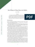 Luca Fabbri- Zero Energy of Plane-Waves for ELKOs